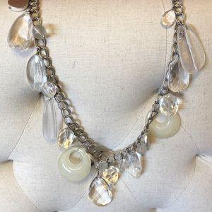 Lucite long necklace